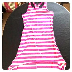 Dresses & Skirts - Striped hi-lo racer back dress